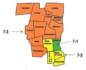 Map of District 7, subdistricts